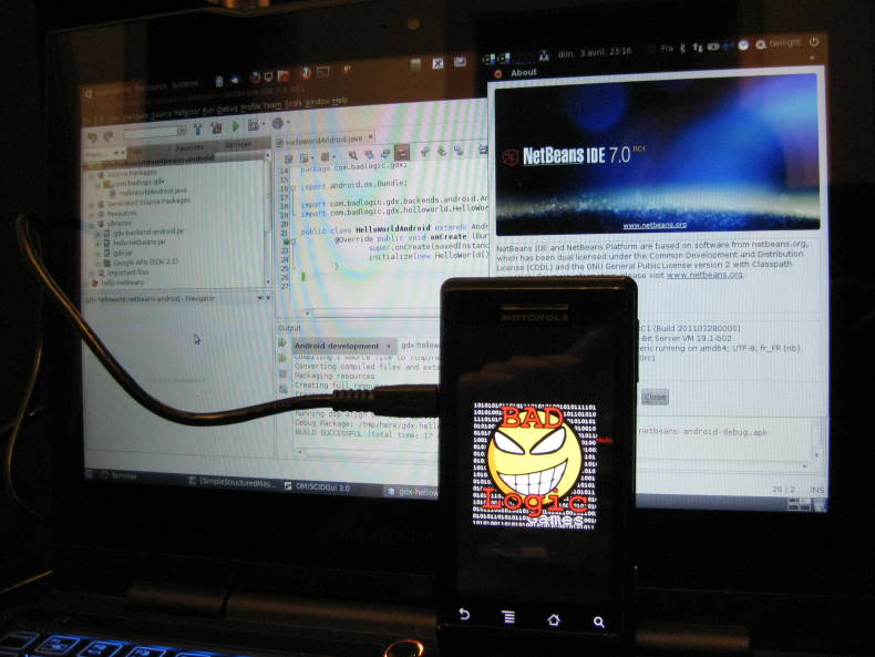 libgdx on android with netbeans